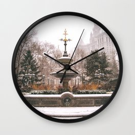 Winter in New York City Wall Clock