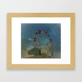 Textured Ferris Wheel Framed Art Print