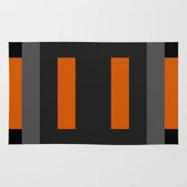 Black and Orange Rug