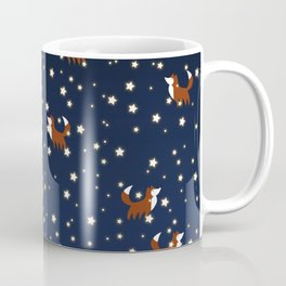 Foxes and stars pattern Coffee Mug