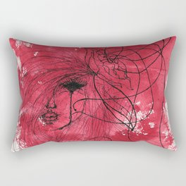 The Mean Reds Rectangular Pillow