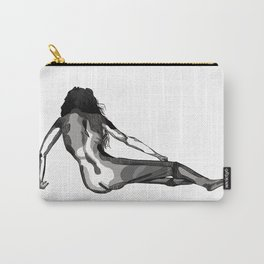 Reclining nude, black and white, woman, female Carry-All Pouch