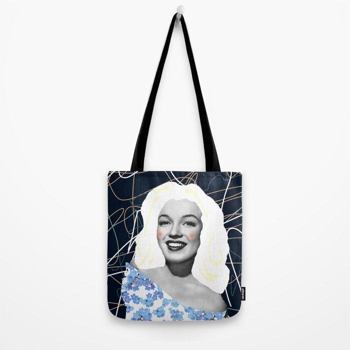 Marilyn in blue Tote Bag