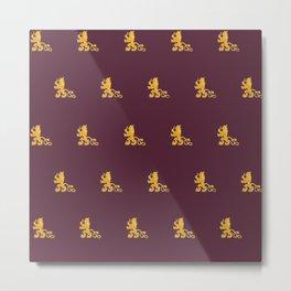 Royal Gryphons in Purple Metal Print