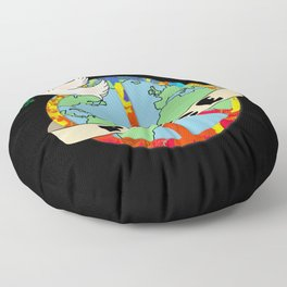 World Peace, Dove, Peace Sign, Earth Floor Pillow