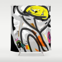 The Cat, The Bee & The Eye Shower Curtain