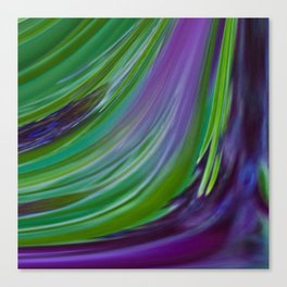 Purple Green Contemporary Abstract Canvas Print