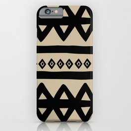 Hand Drawn Tribal - Triangle Stripes Pattern iPhone Case