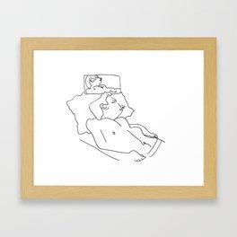 Uncomfortable Sleep Framed Art Print