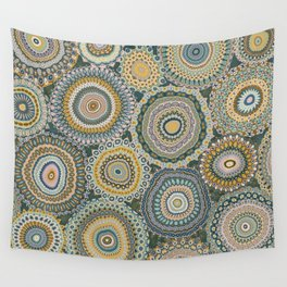 Boho Patchwork-Mineral Colors Wall Tapestry
