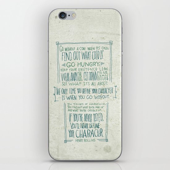 Henry Rollins iPhone & iPod Skin