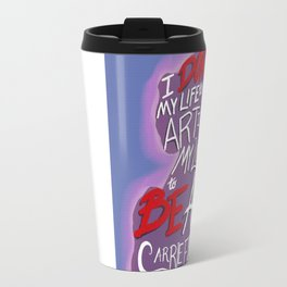 Carrie Fisher Travel Mug