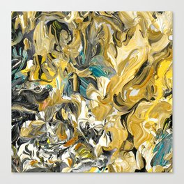 Marble Golden Planet Canvas Print