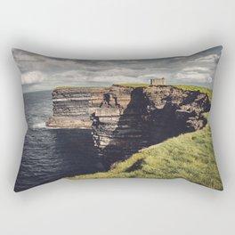 Irish Sea Cliffs Rectangular Pillow