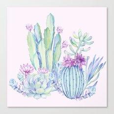 Mixed Cacti Pink #society6 #buyart Canvas Print