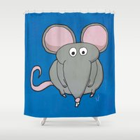 mouse Shower Curtains featuring Mouse by Rafael Martinez