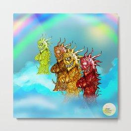 Rainbow Wood Beasts [Pen Drawing] Metal Print