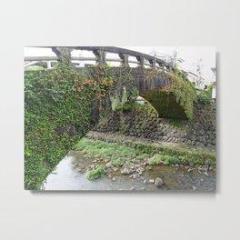 old stone bridge in nagasaki Metal Print
