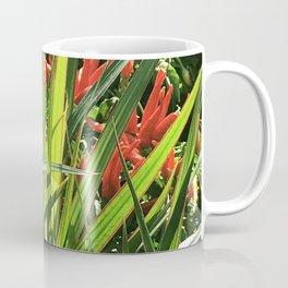 Firecracker Red Flowers Nestled In Lavish Leaves Coffee Mug