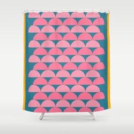 Cute Vibrant Shape Art Shower Curtain
