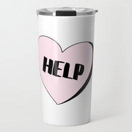 Help Candy Heart Travel Mug