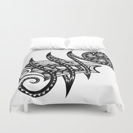 Shoulder Band Tattoo Duvet Cover