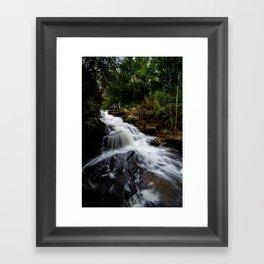 Garden Brook Falls Framed Art Print