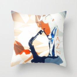 Jazz Sax Poster Throw Pillow