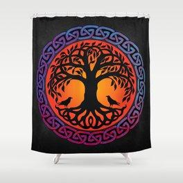 Viking Yggdrasil World Tree Shower Curtain