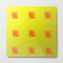 carrés rouges 3 Metal Print