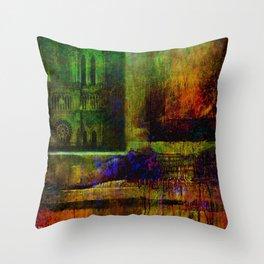 See Notre-Dame-de-Paris since the window Throw Pillow