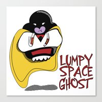 lumpy space princess Canvas Prints featuring Lumpy Space Ghost by The Geekerie