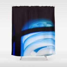 Blue Light District Shower Curtain