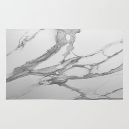 White Marble With Silver-Grey Veins Rug
