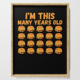 20th Birthday Fastfood Burger Burger Lover Serving Tray