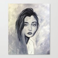 karen hallion Canvas Prints featuring Karen by Pamela Schaefer