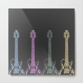 Neon Guitars Metal Print