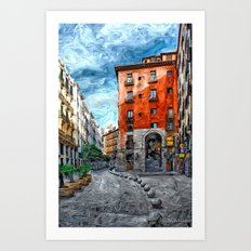 Old Historic Corner - Madrid Art Print