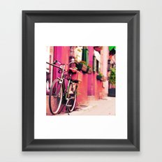 Dreamy Bike Ride Travel Photography Framed Art Print