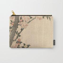Hokusai, flowers of a cherry-tree- manga, japan,hokusai,japanese,北斎,ミュージシャン Carry-All Pouch