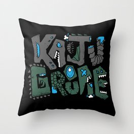 Kaiju Groupie Throw Pillow