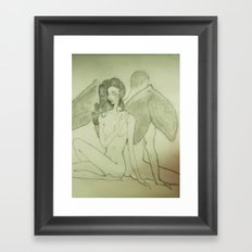 Love`s Angel Wings Framed Art Print