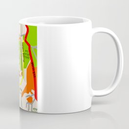 Jerusalem Map Design Coffee Mug