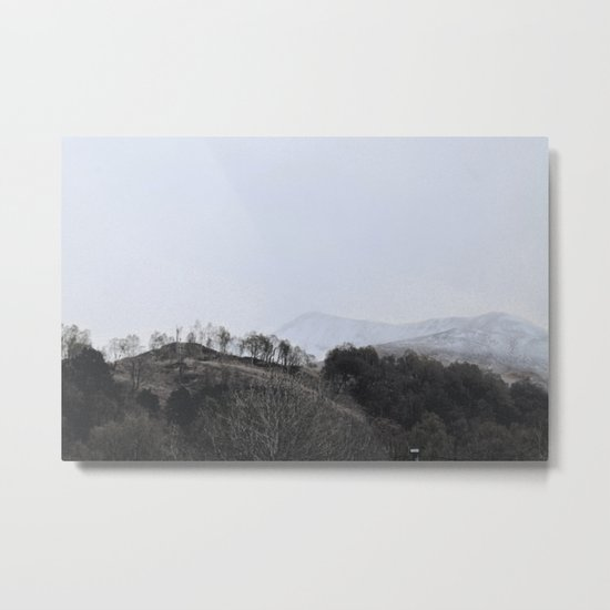 Away, away to the hills and the heart Metal Print