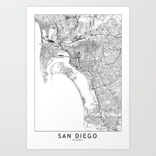 San Diego White Map by multiplicity