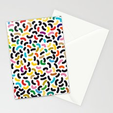 colored worms Stationery Cards