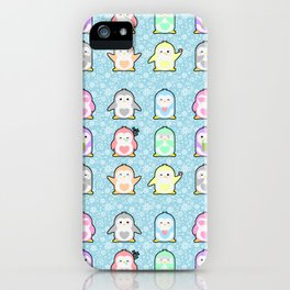 Rainbow Penguins iPhone Case