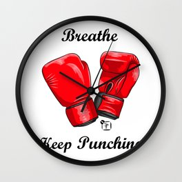 Breath and Keep Punching Wall Clock