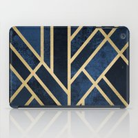 deco iPad Cases featuring Art Deco Midnight by Elisabeth Fredriksson