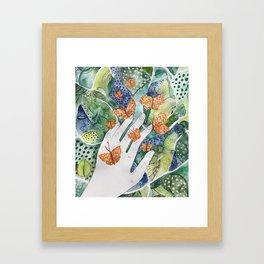 abstract whimsical nature art Framed Art Print